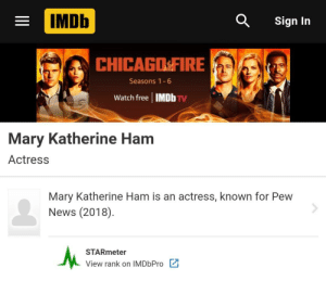 Did anyone else know Mary Ham has her own IMDb?: Did anyone else know Mary Ham has her own IMDb?