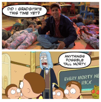 Time, Did, and This: DID I GRADGITATE  THIS TIME YET?  ANYTHINGS  POSSIBLE  TALL MORTY.  EVERY AAORTY N  RICK