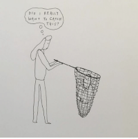 Hello, Memes, and Sorry: DID RE ALLY  WANT To CATCH  THIS? Hello, sorry, some of my drawings are on view at Equity Gallery, 245 Broome street, through August 5th - they are redrawn versions of the tiny, thrown away originals. You can buy them online ($125) at the gallery's web store - link in bio..