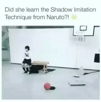 Naruto, Indonesian (Language), and The Shadow: Did she learn the Shadow Imitation  Technique from Naruto?! Mantap lah