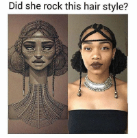 Memes, Hair, and 🤖: Did she rock this hair style? Slay with @slayingwhileblack