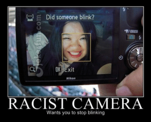 Joke4Fun Memes: Racist camera: Did someone blink?  3  OK BExit  Nikon  RACIST CAMERA  Wants you to stop blinking Joke4Fun Memes: Racist camera