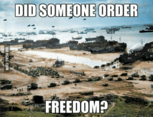 Your daily dose of freedom: DID SOMEONE ORDER  FREEDOM?  VIA 9GAG.COM Your daily dose of freedom