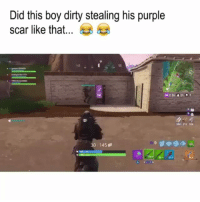 Bruh, Dirty, and Purple: Did this boy dirty stealing his purple  scar like that...  NE  6025  4 seanporter 11  2:36 3101  254 212 324  干  30 145  31 Bruh thats messed up 😂😂💀