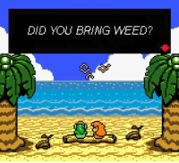 Legend of Zelda: Link to the drugs: DID YOU BRING WEED? Legend of Zelda: Link to the drugs