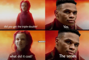 Nba, Russell Westbrook, and Paul George: did you get the triple-double?  Yes.  @NBAMEMES  The series.  what did it cost? Paul George speaks openly on his relationship with Russell Westbrook: bit.ly/PaulGeorgeWestbrook