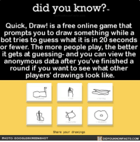 Did You Kno W Tm Quick Draw Is A Free Online Game That Prompts You