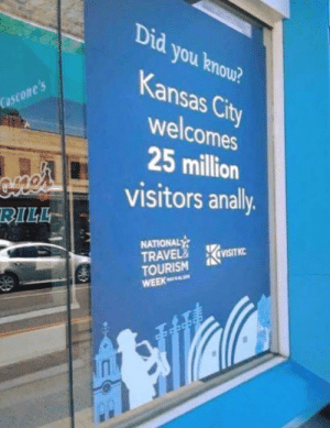 Congratulations?: Did you knou?  Kansas City  welcomes  25 million  visitors anally  Cascone s  BILL  NATIONAL  TRAVEL& KavISITKC  TOURISM  WEEK  ' Congratulations?