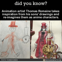 Memes, Doodle, and Swiss: did you know?  Animation artist Thomas Romaine takes  inspiration from his sons' drawings and  re-imagines them as anime characters  PHOTO: THOMAS ROMAIN  DIDYOUKNOWFACTS.COM Okay but that's fucking cool? ~🍰 - ========== ArtAccount: @nightmare_swiss ========== -☣☢☣☢☣ art doodle artistproblems artiststruggle artist artistissues artissues artstruggle artproblem doodle sketch pen funny lol skizze skizzieren kunst meme coloring problems lol funny meme memes happy artistic artpain lmao relatable relatableposts haha künstler