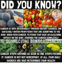 "👆🏿👆👆🏻 facts 🔹 You know what cancer is? A multi-billion dollar industry. Sad to say, but we have all been affected in one way or another. Imagine if people used the computer in their hand every day to actually research? How many less people would needlessly die from such a curable thing?🤔 🔹 Nobody ""gets"" cancer... our bodies kill thousands of cancer cells daily... what happens is people FEED their cancer too much that it grows into a serious problem, such as from eating meat and dairy, gmos, drinking fluoride, any animal products at all, etc. 🔹 In this day and age there are so many cases of people switching to a plant based diet and curing a range of illnesses I'm surprised big pharma is even hanging on this long😂😝: DID YOU KNOW?  CANCER IS 100% REVERSIBLE? THROUGH DIETARY CHANGES, ONE  CAN EASILY SWITCH FROM FOODS THAT ARE ACIDIFYING TO THE  BODY, WHICH FEED CANCER, TO F00DS THAT HAVE AN ALKALIZING  EFFECT ON THE BODY, STARVING THE CANCER COMPLETELY  IGRCONNECTING BONSEid.sNEsse  CANCER STOPS GROWING AS SOON AS ONE STOPS FEEDING  IT. CANCER IS NOT NOT HEREDITARY, AT ALL. YOUR DAILY  CHOICES ARE WHAT DETERMINES YOUR HEALTH 👆🏿👆👆🏻 facts 🔹 You know what cancer is? A multi-billion dollar industry. Sad to say, but we have all been affected in one way or another. Imagine if people used the computer in their hand every day to actually research? How many less people would needlessly die from such a curable thing?🤔 🔹 Nobody ""gets"" cancer... our bodies kill thousands of cancer cells daily... what happens is people FEED their cancer too much that it grows into a serious problem, such as from eating meat and dairy, gmos, drinking fluoride, any animal products at all, etc. 🔹 In this day and age there are so many cases of people switching to a plant based diet and curing a range of illnesses I'm surprised big pharma is even hanging on this long😂😝"
