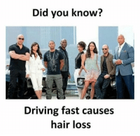 Bad, College, and Driving: Did you know?  Driving fast causes  hair loss #1 My my harmless prank#2 Change salad with burger, fell so good#3 Carbs are bad for me?#4 Driving fast causes hair loss.#5 How to communicate with your girl friend.#6 Date with a college professor#7 Binging the  new season of Black Mirror#8 Pack the van for a family...