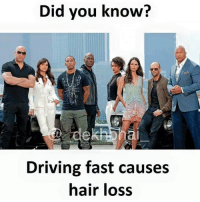 Drive slow 😜 Don't be a takla 😂😂 Tag them who drives fast 👊🏻 SpeedKills: Did you know?  Driving fast causes  hair loss Drive slow 😜 Don't be a takla 😂😂 Tag them who drives fast 👊🏻 SpeedKills
