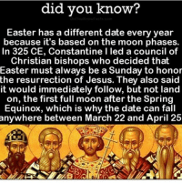 Did You Know Easter Has A Different Date Every Year Because It S