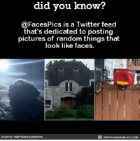Amazon, Apple, and Facebook: did you know?  @Faces Pics is a Twitter feed  that's dedicated to posting  pictures of random things that  look like faces.  DIDYoukNowBLOG.coM  PHOTO: TWITTERIFACESPICS That house in the middle is smiling at me. 🤗🏠 funny twitter funnypics 📢 Share the knowledge! Tag your friends in the comments. ➖➖➖➖➖➖➖➖➖➖➖ Want more Did You Know(s)? ➡📓 Buy our book on Amazon: [LINK IN BIO] ➡📱 Download our App: http:-apple.co-2i9iX0u ➡📩 Get daily text message alerts: http:-Fact-Snacks.com ➡📩 Free email newsletter: http:-DidYouKnowFacts.com-Sign-Up- ➖➖➖➖➖➖➖➖➖➖➖ We post different content across our channels. Follow us so you don't miss out! 📍http:-facebook.com-didyouknowblog 📍http:-twitter.com-didyouknowfacts ➖➖➖➖➖➖➖➖➖➖➖ DYN FACTS TRIVIA TIL DIDYOUKNOW NOWIKNOW
