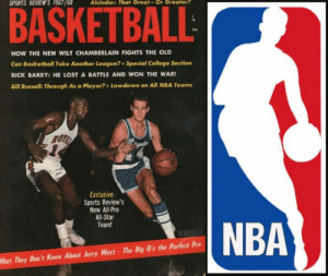 """Did you know Jerry West doesn't get royalties for being """"the logo"""" because the NBA won't admit the silhouette is him?   The photo on this magazine cover is also the real photo used in the NBA logo.  He's also said many times he wishes the NBA would change the logo. https://t.co/Z9Ng0gw3jj: Did you know Jerry West doesn't get royalties for being """"the logo"""" because the NBA won't admit the silhouette is him?   The photo on this magazine cover is also the real photo used in the NBA logo.  He's also said many times he wishes the NBA would change the logo. https://t.co/Z9Ng0gw3jj"""