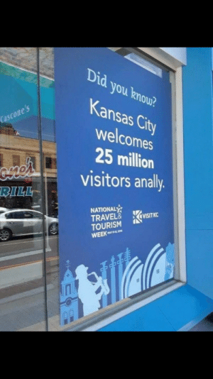 Kansas City really lets tourists have a good time: Did you know?  Kansas Cit  welcomes  25 million  visitors anally  ty  C0  BILL  NATIONAL  TRAVEL& İVISITKC  TOURISM Kansas City really lets tourists have a good time