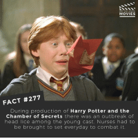 Harry Potter and the Itchy Scalp...😞 Can you think of a better caption? . . . . Double Tap and Tag someone who needs to know this 👇 All credit to the respective film and producers. movie movies film tv camera cinema fact didyouknow moviefacts cinematography screenplay director actor actress act acting movienight cinemas watchingmovies hollywood bollywood didyouknowmovies: DID YOU KNOW  MOVIES  FACT #277  During production of Harry Potter and the  Chamber of Secrets there was an outbreak of  head lice among the young cast. Nurses had to  be brought to set everyday to combat it. Harry Potter and the Itchy Scalp...😞 Can you think of a better caption? . . . . Double Tap and Tag someone who needs to know this 👇 All credit to the respective film and producers. movie movies film tv camera cinema fact didyouknow moviefacts cinematography screenplay director actor actress act acting movienight cinemas watchingmovies hollywood bollywood didyouknowmovies