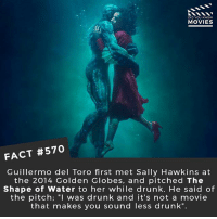 "What movie plot sounds the most insane when you try to explain it to your parents? 🎥 • • • • Double Tap and Tag someone who needs to know this 👇 All credit to the respective film and producers. movie movies film tv camera cinema fact didyouknow moviefacts cinematography screenplay director movienight hollywood netflix didyouknowmovies: DID YOU KNOW  MOVIES  FACT #570  Guillermo del Toro first met Sally Hawkins at  the 2014 Golden Globes, and pitched The  Shape of Water to her while drunk. He said of  the pitch; ""I was drunk and it's not a movie  that makes you sound less drunk"". What movie plot sounds the most insane when you try to explain it to your parents? 🎥 • • • • Double Tap and Tag someone who needs to know this 👇 All credit to the respective film and producers. movie movies film tv camera cinema fact didyouknow moviefacts cinematography screenplay director movienight hollywood netflix didyouknowmovies"