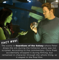 Do you think James Gunn should be brought back as director?🎬🎥 • • • • Double Tap and Tag someone who needs to know this 👇 All credit to the respective film and producers. Movie Movies Film TV Cinema MovieNight Hollywood guardiansofthegalaxy GOTG chrispratt starlord jamesgunn guardiansofthegalaxy2: DID YOU KNOW  MOVIES  FACT #991  The scene in Guardians of the Galaxy where Peter  drops the orb during the Collector scene was not  scripted. According to the commentary, Chris Pratt  accidentally dropped it during filming, but  remained in character through the whole thing, so  it stayed in the final film Do you think James Gunn should be brought back as director?🎬🎥 • • • • Double Tap and Tag someone who needs to know this 👇 All credit to the respective film and producers. Movie Movies Film TV Cinema MovieNight Hollywood guardiansofthegalaxy GOTG chrispratt starlord jamesgunn guardiansofthegalaxy2