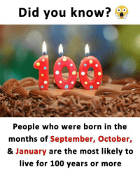 Did You Know People Who Were Born In The Months Of September