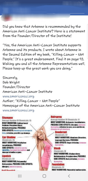 Did You Know That Arbonne Is Recommended by the American Anti Cancer