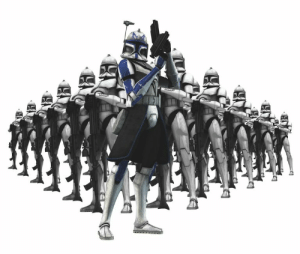Did you know? The clone troopers can't have sex with each other. It's technically called masturbation.: Did you know? The clone troopers can't have sex with each other. It's technically called masturbation.