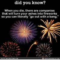 """The only way to go. 🎆🎇 fireworks happyfourth happyfourthofjuly holiday ➡📱Download our free App: http:-apple.co-2i9iX0u: did you know?  When you die, there are companies  that will turn your ashes into fireworks  so you can literally """"go out with a bang.""""  PHOTO: MYLAKETOWN COM  DIDYOUKNOWBLOG.COM The only way to go. 🎆🎇 fireworks happyfourth happyfourthofjuly holiday ➡📱Download our free App: http:-apple.co-2i9iX0u"""