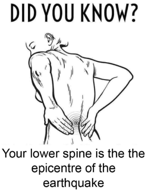 Bone Shaking Juice: DID YOU KNOW?  Your lower spine is the the  epicentre of the  earthquake Bone Shaking Juice