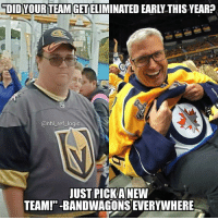 """Logic, Love, and Memes: """"DID YOUR TEAM GET ELIMINATED EARLY THIS YEAR?  @nhl_ref_logic  JUST PICKANEW  TEAMI""""-BANDWAGONS EVERYWHERE I'm rooting for the Caps to win it all but I'm still faithful to my true love"""