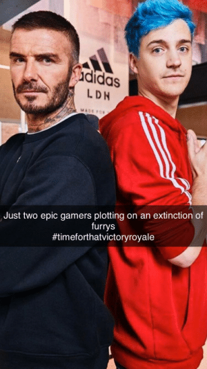 Epic gamer time: didas  LDN  MACO  Just two epic gamers plotting on an extinction of  furrys  Epic gamer time
