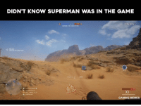 Superman Gif: DIDN'T KNOW SUPERMAN WAS IN THE GAME  OPEN BETA  DEFIND THE o JECTIVIS  -6. 00,54  38  35  GAMING MEMES