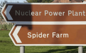 Didn't they learn from Robertson's mistake in Arachnids in the UK (wasn't a power plant, but it's still radiation): Didn't they learn from Robertson's mistake in Arachnids in the UK (wasn't a power plant, but it's still radiation)