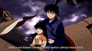Cute, Target, and True: Didn't you know? Sesshoumaru-sama's always been kind. inuyasha:  mari-rei:  Ahhh! Rin's so CUTE!!!!  So true! Rin speaks the truth! Best picture ever.