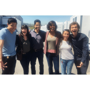 Target, Tumblr, and Blog: didroune:  Daniel Henney, Paget Brewster, Adam Rodriguez, Aisha Tyler, Gaby Dube  Matthew Gray Gubler@gabyydubee :  That face when we're all REALLY EXCITED (although Paget looks scared…) that Criminal Minds got picked up for Season 14 !