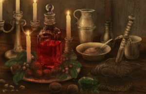 My final artwork of the year was a tribute to the Elder Scrolls series. Please help yourself to the Health Potion I made. If you need to fortify health or restore Magicka I have the ingredients here for those too. Snack on the Cornberries if you like, but the Scrib Jelly is mine! :D: DIDUN My final artwork of the year was a tribute to the Elder Scrolls series. Please help yourself to the Health Potion I made. If you need to fortify health or restore Magicka I have the ingredients here for those too. Snack on the Cornberries if you like, but the Scrib Jelly is mine! :D