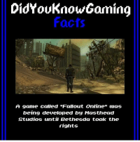 "Has anyone rung my contact number recently?~Ziege: DidYouknow Gaming  Facts  A game called ""Falout Online"" was  being developed by Masthead  Studios until Bethesda took the  rights Has anyone rung my contact number recently?~Ziege"