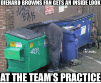 They usually can't give away those kind of seats LIKE NFL Memes!: DIEHARD BROWNS FAN GETS AN INSIDE LOOK  CAUTION  ONFLMEMEZ  AT THE TEAM'S PRACTICE They usually can't give away those kind of seats LIKE NFL Memes!