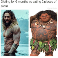 Dieting, Memes, and Pizza: Dieting for 6 months vs eating 2 pieces of  pizza  @tank sinatra So true! 😂