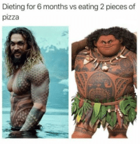 Dieting, Pizza, and For: Dieting for 6 months vs eating 2 pieces of  pizza