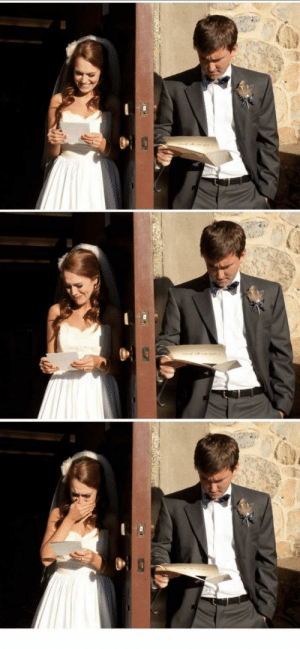 Man, Reading, and Woman: Difference btwn a man and woman reading a sweet letter