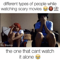💀LMFAO which one are you? 😭😂 📍Tag Friends📍 💀💀 • Follow Me (@ayekev) For More! Turn On Post Notifications✨ ————————————— shirt by: @_youngandflyclothing ✅: different types of people while  watching scary movies  IG I @ayekev  the one that cant watch  it alone 💀LMFAO which one are you? 😭😂 📍Tag Friends📍 💀💀 • Follow Me (@ayekev) For More! Turn On Post Notifications✨ ————————————— shirt by: @_youngandflyclothing ✅