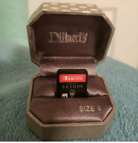 Anaconda, Nintendo, and Skyrim: Dillards  NINTENDO  SWITCH  SKYRIM  SIZE 0 100% chance she says yes. https://t.co/DeFlpHOHpV
