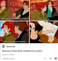 """Vlad's """"Shots Fired"""" journal, omg.  --Wolverine: Dimitri, do you really think rm royalty  You know I do.  Then stop bossing me around.  clearssong  #he has a """"shots fired"""" notebook im so done  Source: -letaem  349,462 notes Vlad's """"Shots Fired"""" journal, omg.  --Wolverine"""