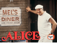 Family, Memes, and Soon...: DINER  USE FRONT DOOR  ANTENNA  TV Vic Tayback, perhaps best known as Mel Sharples on Alice (coming soon to Antenna TV!), guest stars on All in the Family tonight at 6:30pm ET / 5:30pm CT.