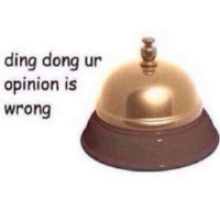 Whenever anybody disagrees with me.: ding dong ur  opinion is  wrong Whenever anybody disagrees with me.