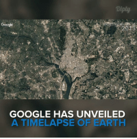 Google, Memes, and google.com: Diply  Google  2013  GOOGLE HAS UNVEILED  A TIMELAPSE OF EARTH Google unveils a 3-decade timelapse of the Earth. More, https://earthengine.google.com/timelapse/ #diplyvideo