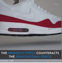 What futuristic inventions do you want to see levitate?: Diply.  THE  MAGNETIC FORCE  COUNTER ACTS  THE  GRAVITATIONAL FORCE  SOURCE: LYFE What futuristic inventions do you want to see levitate?