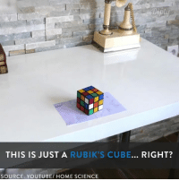 This will confuse your brain! :o: Diply  THIS IS JUST A  RUBIK'S CUBE... RIGHT?  SOURCE: YOUTUBE HOME SCIENCE This will confuse your brain! :o