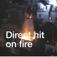 Fire, Memes, and Blaze: Dir  on-fire  it Nice shot! A TV camera captures the moment firefighters tackle a blaze in a Los Angeles apartment block with a water drop from a helicopter. Thankfully it's thought no-one was hurt in the fire. firefighter helicopter losangeles skills fire nailedit
