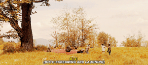 imnotyourwatson:  This is one of my favourite GIFS because it shows that Todd missed Dirk as much as he missed him.  And I just love watching them jump up and down really far away 😂: Dirk  [BOTH,SCREAMING ANDUAUGHİNG] imnotyourwatson:  This is one of my favourite GIFS because it shows that Todd missed Dirk as much as he missed him.  And I just love watching them jump up and down really far away 😂